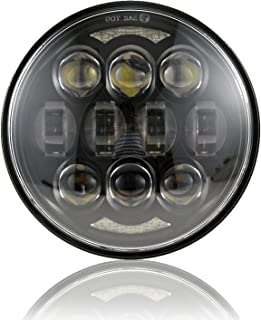 "2019 New Brightest DOT تایید شده 80 وات چیپس Osram 5-3 / 4 ""5.75"" دور LED پروژکتور چراغ جلو برای موتور سیکلت هارلی سیاه"