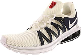 Mens Shox Gravity Running Shoes White/Metallic Silver-White-Obsidian - 10