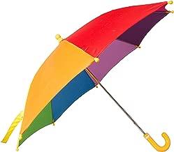Mountain Warehouse Kids Rainbow Umbrella - Fun & Colourful Rainbow Fabric Sun Brolly, Easy Care Rain Umbrella - Open: 40cm - For Winter, Garden, Picnic & Patio