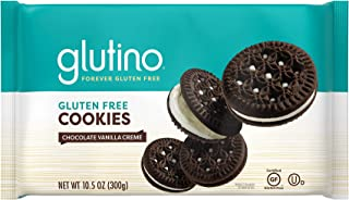 Gluten Free by Glutino Chocolate Vanilla Creme Cookies, Decadent Cookie, 10.5 Ounce