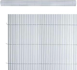 Cañizo ocultación Artificial de PVC Gris de 100x300 cm -