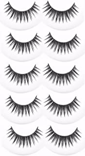 87e56bd243f FOK Soft Natural Black Thick Long False Eyelashes Makeup Extension Pack Of  5 Pair Fake Eyelashes