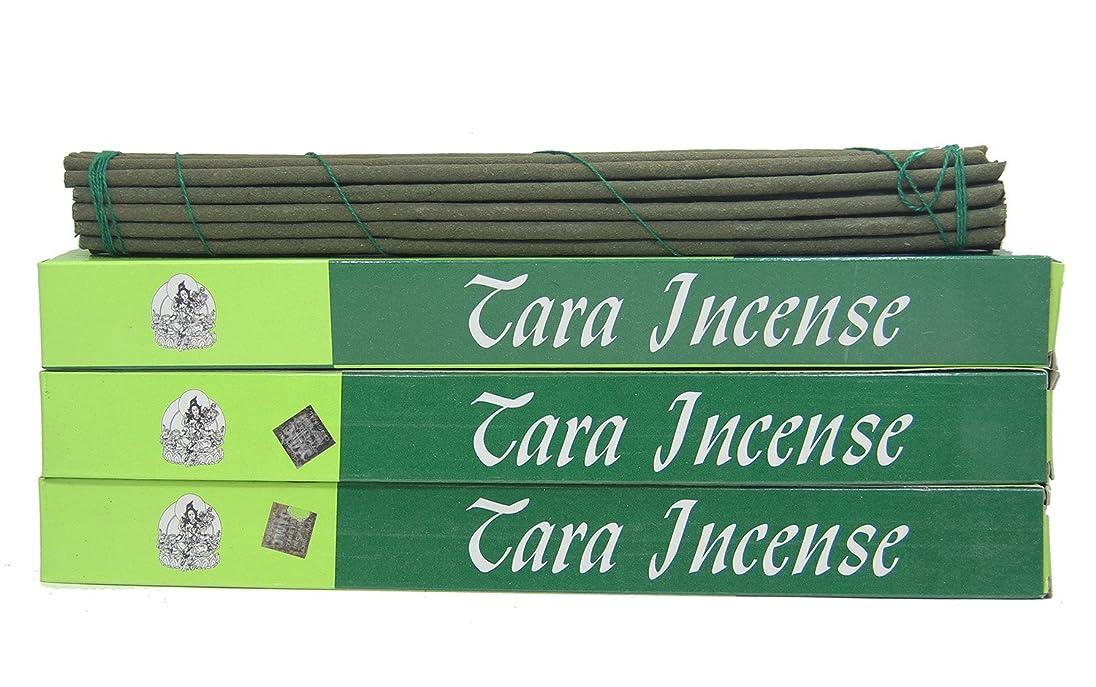 鋸歯状ヘビー不適切な(Large 84 Sticks) - DharmaObjects 3 Box Tibetan Green Tara Incense Sticks (Large 84 Sticks)