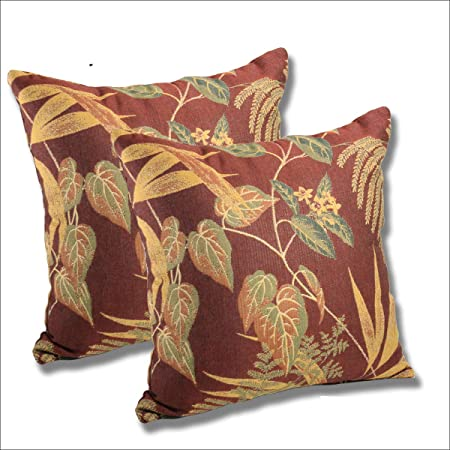 Amazon Com Comfort Classics Inc Set Of 2 Sunbrella Outdoor Indoor Throw Pillow 15 5x15 5 Autumn Leaves Garden Outdoor