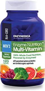 Enzymedica, Enzyme Nutrition Men's Multi-Vitamin, Support for a Healthy Heart, Immune Function and Energy, Non-GMO, 120 ca...