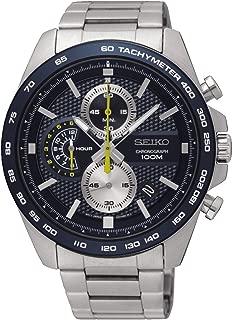Seiko Men's 44mm Steel Bracelet & Case Hardlex Crystal Quartz Blue Dial Analog Watch SSB259P1
