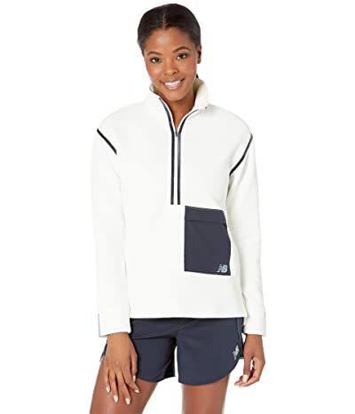 New Balance Q Speed Fuel Sweatshirt (Sea Salt) Women