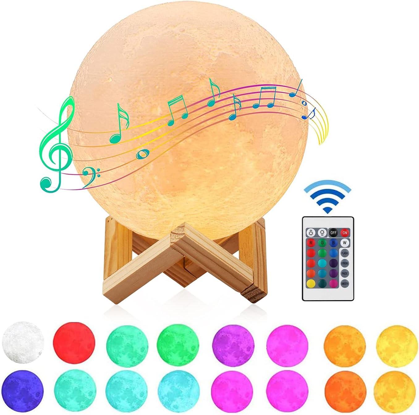 Lampara Luna con Altavoz Bluetooth