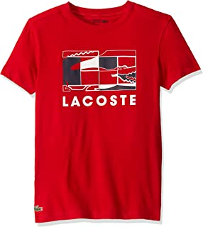 Lacoste Mens Sport Short Sleeve Graphic Squares T-Shirt