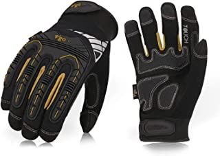 Vgo High Dexterity Heavy Duty Mechanic Glove, Rigger Glove, Anti-vibration, Anti-abrasion, Touchscreen (1Pair, Size L, Black, SL8849)
