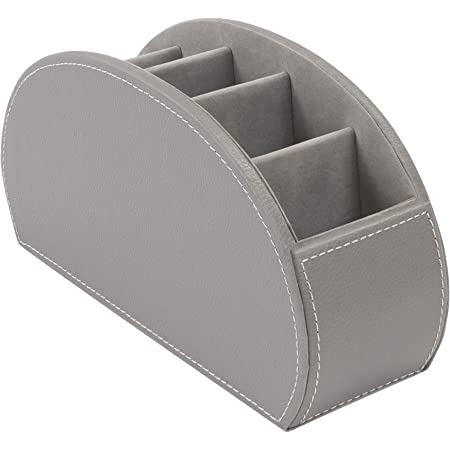 OSCO Faux Leather 5 Part Remote Organiser - Grey