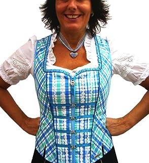 Spieth & Wensky Trachtenmieder blau türkis kariert