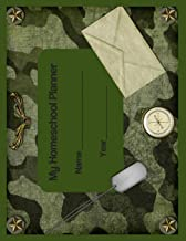 My Homeschool Planner: Camo Military Flexible Interactive Homeschooling Lesson Plan Curriculum Organizer Book for One Student (Peachy Keen Homeschool Planners)