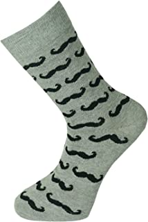 Calcetines de diseño de tobillo unisex Bigote gris