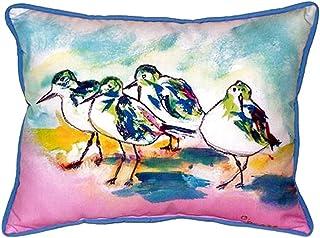 """Betsy Drake SN953 Pink Sanderlings Pillow, 11"""" x14"""""""