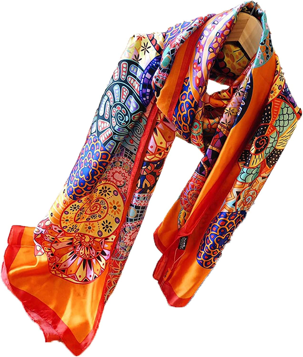 Fashion luxury silk scarves are suitable for women and men in four seasons. Luxury gifts are comfortable to wear anywhere (Q43)