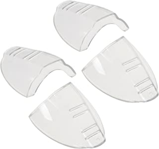 BCP 2 pairs Clear Color Slip On Clear Side Shield for Safety Glasses