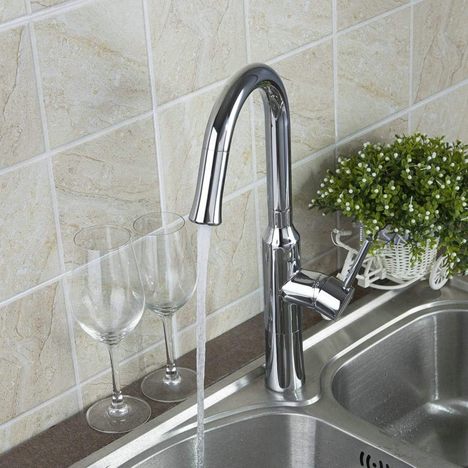 KUNHAN Kitchen Sink Faucet Tap redating 360 Single Handle Deck To Install Sink Sink Faucet, Mixer