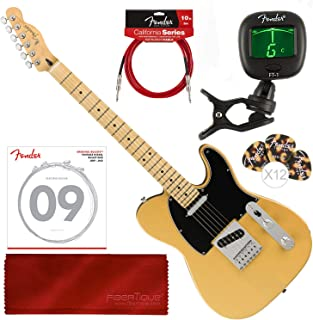 Fender Player Telecaster Electric Guitar - Maple Fingerboard - Butterscotch Blonde with Tuner and Accessory Bundle
