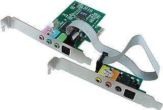 Kalea Informatique - Tarjeta controladora de sonido sobre puerto PCI-E / 8 canales (7.1) - Chipset CMI8768 y ASM1083 - Entrada y salida SPDIF por fibra óptica