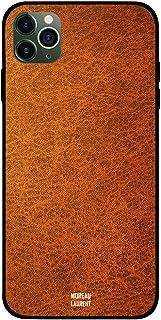 iPhone 11 Pro Case Cover Brown Orange Leather Pattern Moreau Laurent Premium Design Phone Covers