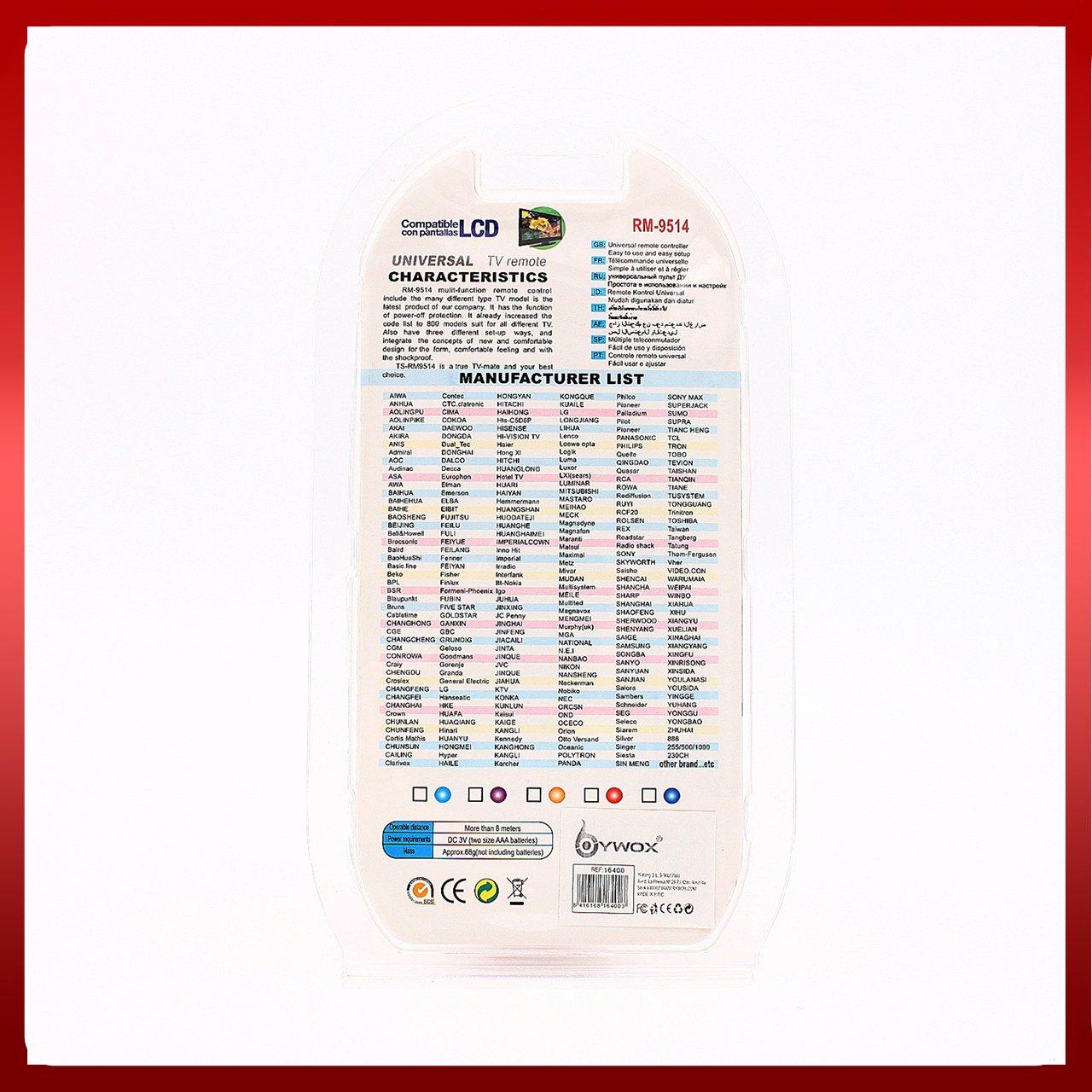 MANDO A DISTANCIA UNIVERSAL MILTIFUNCIÓN NARANJA RM-9514: Amazon.es: Electrónica