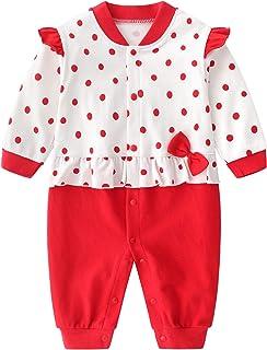 JinBei Pelele Bebe Niño Niña Algodon Pijama Recien Nacido Mamelucos Manga Larga Mono Trajes 0-12 Meses