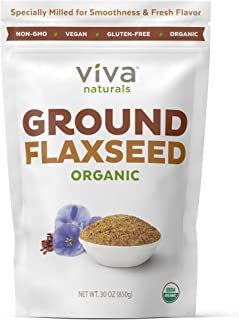 Viva Naturals Organic Ground Flax Seed, 30 oz - Specially Cold-milled Using Proprietary Technology for Optimal Smoothness ...