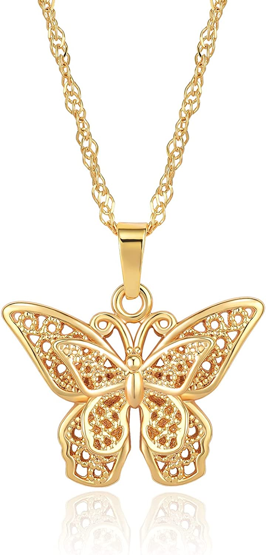 DWJSu Cute Butterfly Choker Pendant Necklace for Girls Women