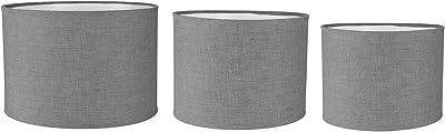 Lum & Co Set de sacs cylindriques, gris clair, 25x 21.3x 25cm, Lot de 3