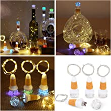 Uniyou USB Rechargeable Wine Bottle Cork Lights with 80 Inches Lights String LED Colorful..
