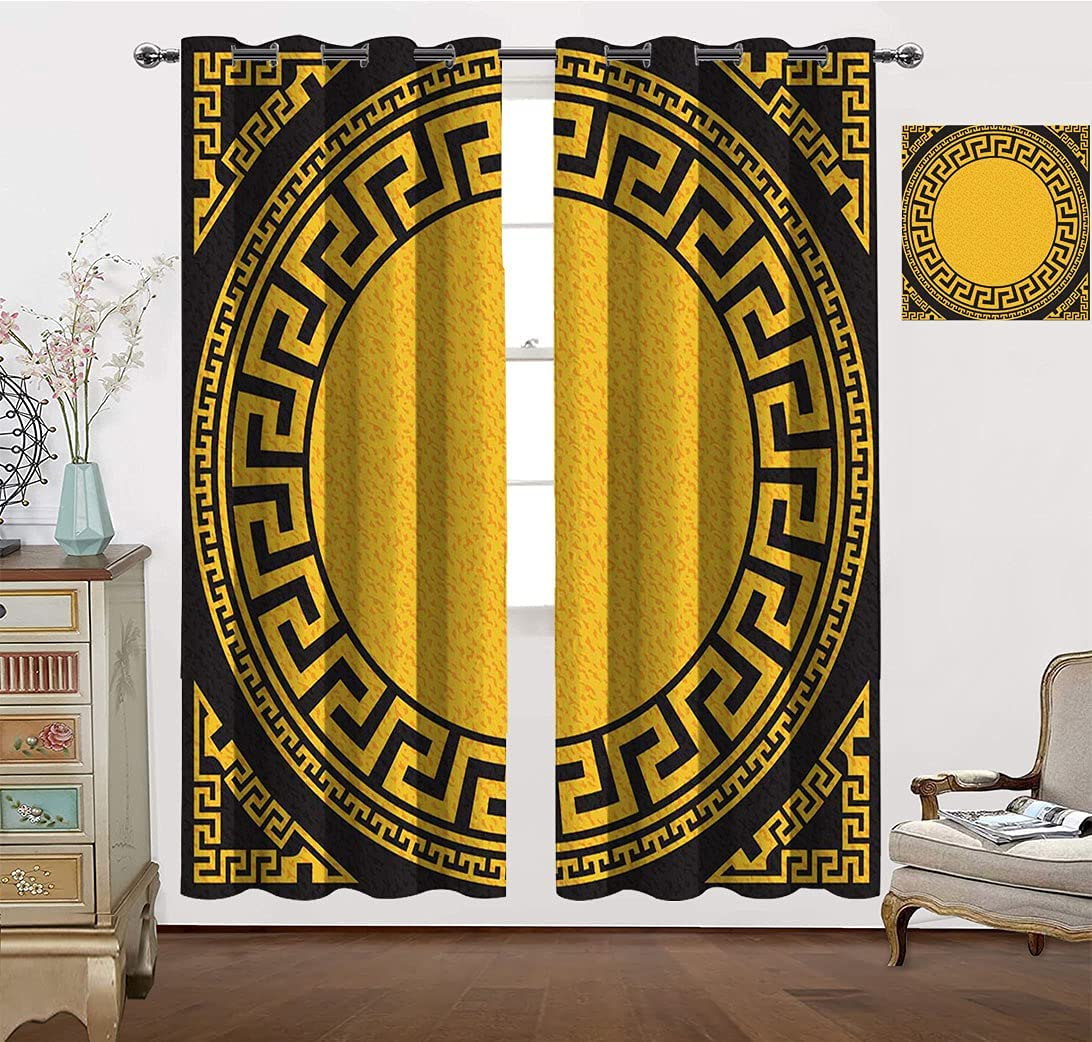 Traditional Pattern Curtain Insulated Square Vintage Room All stores security are sold Golden