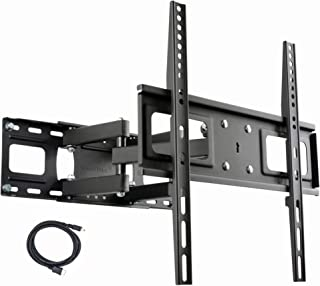 """VideoSecu MW340B2 TV Wall Mount Bracket for Most 27-65 Inch LED, LCD, OLED and Plasma Flat Screen TV, with Full Motion Tilt Swivel Articulating Dual Arms 14"""" Extend, up to VESA 400x400mm,100 LBS WR9"""