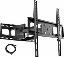 VideoSecu MW340B2 TV Wall Mount Bracket for Most 27-65 Inch LED, LCD, OLED and Plasma Flat Screen TV, with Full Motion Tilt Swivel Articulating Dual Arms 14