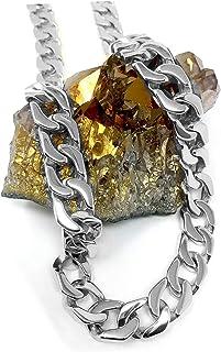 قلادة ذهبية على شكل سلسلة مربوطة 14 مم مع طلاء ذهب أبيض حقيقي أكثر من 22 مرة من غيرها من القلائد والمجوهرات العصرية للرجال...