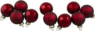 Northlight WY00723 Burgundy Glass Ball Christmas Ornament Set, 1.75