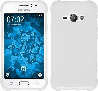 9f7424705b9 PhoneNatic Funda de Silicona Compatible con Samsung Galaxy J1 Ace - S-Style  Blanco -