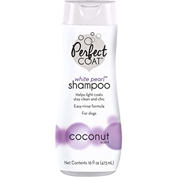 Perfect Coat White Pearl Shampoo for Dogs with Coconut Scent ( Packaging may Vary )