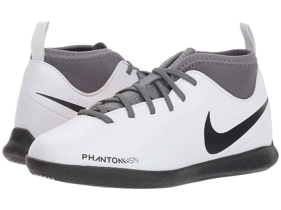 Nike Kids Jr. Phantom Vision Club DF IC Soccer (Toddler/Little Kid/Big Kid) (Wolf Grey/Black/Light Crimson) Kids Shoes
