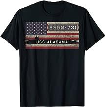 USS Alabama SSBN-731 Nuclear Submarine American Flag Gift T-Shirt