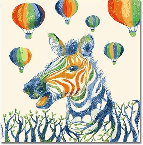 NDSLJSLYH Bricolage Peinture Numérique Couleur Zébrée, 80X100Cm Cadeau De Peinture à l'huile De étudiant Débutant pour Enfants Adultes Peindre Kits Home Decor