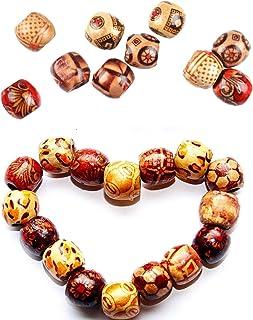 300 Stuks Printed Wood Beads Macrame Houten Kralen Houten Bedrukte Kralen Diy Bedrukte Kralen Wooden Beads For Handicrafts...