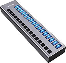 ACASIS Powered USB Hub 16 Ports USB 3.0 Data Hub with Individual On/Off Switches and 12V/7.5A 90W Power Adapter USB Hub 3....