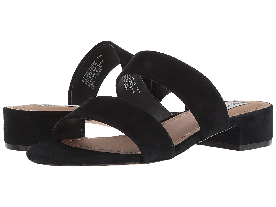 Steve Madden Cactus Slide Sandal (Black Suede) Women