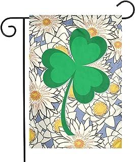 Distressed IRISH St Paddys Day Shamrock Family Garden Decor Semitransparent Pageant Flag