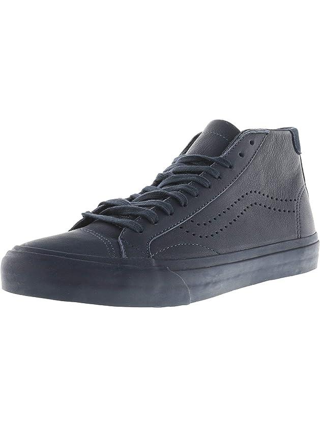 補償不十分雇用者Vans Court Mid Dx Leather Midnight Navy Ankle-High Canvas Skateboarding Shoe - 6M / 4.5M