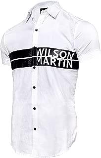 WILSON MARTIN Men's Casual Designer Half Sleeve Printed Shirt for Men