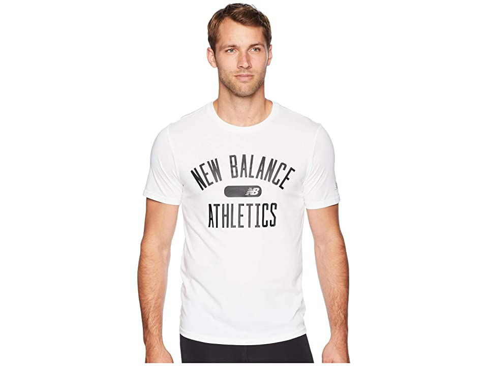 New Balance Athletics Heathertech Tee (White) Men
