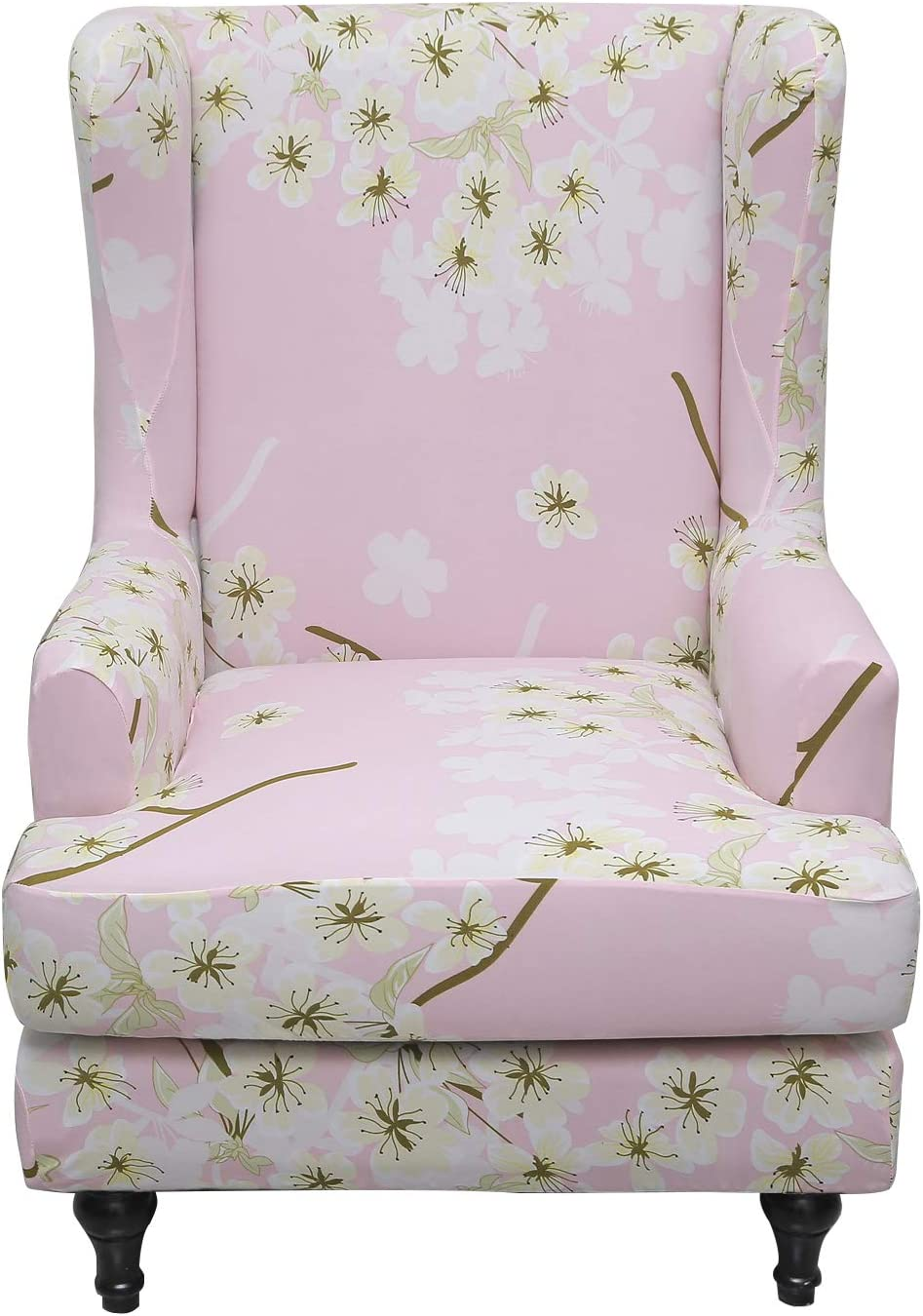 Eco-Ancheng 2-Piece Wingback Chair Slipcover Stretch Wingback Chair Cover,Wingback Armchair Sofa Slipcover,Chair Covers for Living Room Wing Chair (18)
