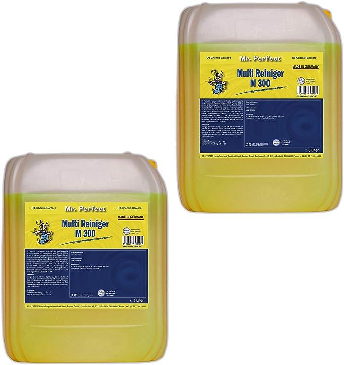 Mr Perfect M 300 Multireiniger 5 Liter Universalreiniger Konzentrat Für Polster Textilien Teppiche Leder Kunststoffe Uvm Drogerie Körperpflege